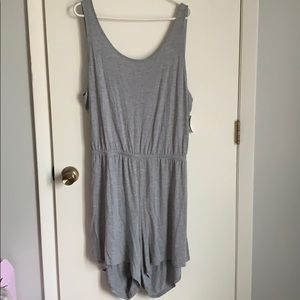 Old Navy gray, crossback, jersey knit romper
